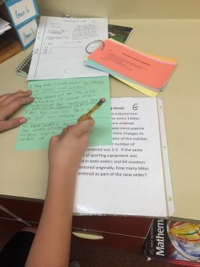 student reflecting