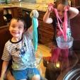 My kids creating slime